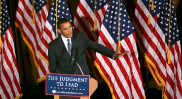 Ever notice how politicians always have at least one flag in the background when they give a speech?